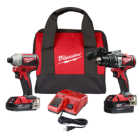 M18 Brushless 2-Tool Combo Kit, Hammer Drill/Impact Driver