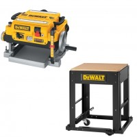 """13"""" Three Knife, Two Speed Thickness Planer with Stand"""