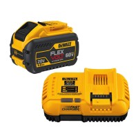 20/60V MAX FLEXVOLT Lithium-Ion 9.0Ah Battery Pack with Fan-Cooled Charger