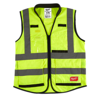 Yellow High Visibility Performance Safety Vests - L/XL
