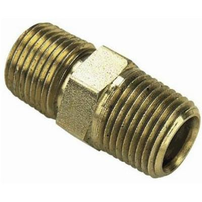 Pneumatic Brass Male Hex Nipple Adapter