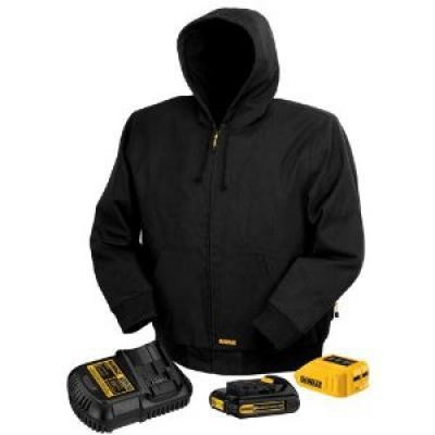 20V/12V MAX* Lithium-Ion Black Hooded Heated Jacket Kit - Extra- Large