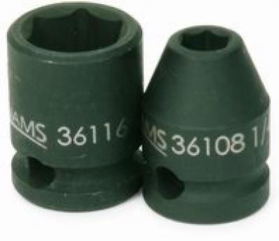 11/16 Shallow 6 Point Impact Socket 3/8 Drive