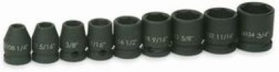 "3/8"" Drive, Impact Socket Set, 9 Piece"