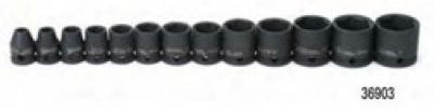 Impact Socket Set 3/8 Drive 12 Pc Std 12 Point