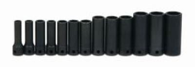 "3/8"" Drive Deep Impact Socket Set 6-Point 13 Pcs"