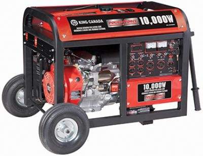 10000W Gasoline Generator with Electric Start & Wheel Kit