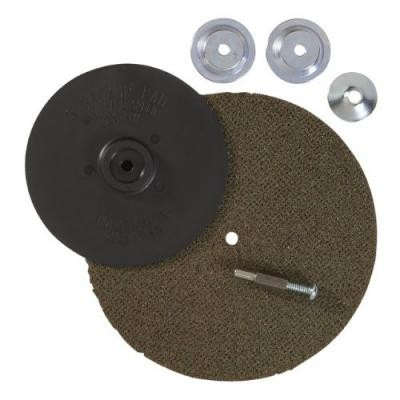5-Inch Fiber Finishing Backing Pad Kit with Mounting Hardware for Drills