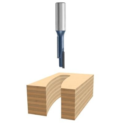 3/8-Inch Diameter 1-5/16-Inch Cut Carbide Tipped Staggertooth Straight Router Bit 3/8-Inch Shank