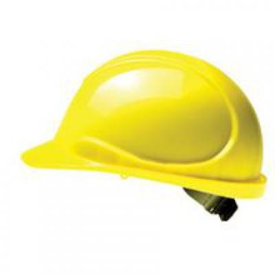 Wave ANSI Ratchet Suspension Hard Hat - Yellow