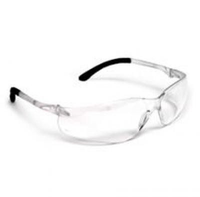 JAZZ 401 Black Rubber Arms Safety Glasses - Clear (JS401)