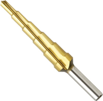 3/16 In. to 1/2 In. Titanium-Coated Step Drill Bit