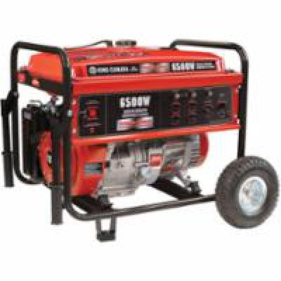 6500-W Gasoline Generators w/Wheel Kit