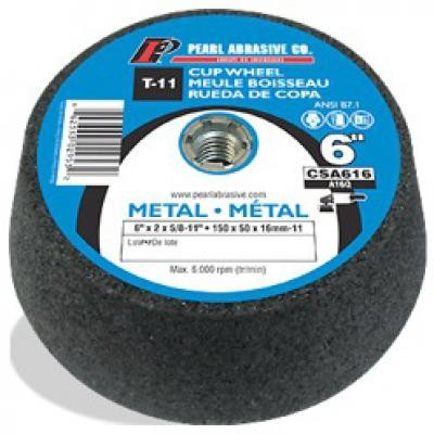 6 x 2 x 5/8-11 Type 11 Grinding Cup Stones, A16Q, 10/Box