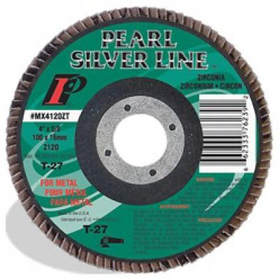 4-1/2 x 7/8 Silver Line™ Zirconia Maxidisc™ Flap Discs for Metal/Stainless Steel, Type 27 Shape