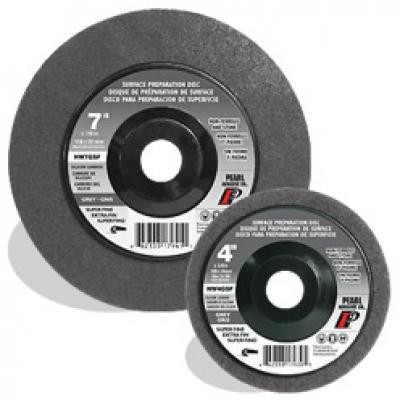 4-1/2 x 5/8-11 SC Grey Surface Preparation Wheel, Super Fine Grit, 10/Box