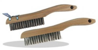 4 X 16 Shoe Handle Wire Scratch Brush, Carbon Steel