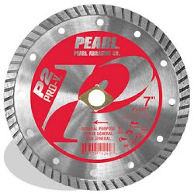 4 x .080 x 20mm, 5/8 Pearl P2 Pro-V™ Gen. Purpose Flat Core Turbo Blade, 10mm Rim