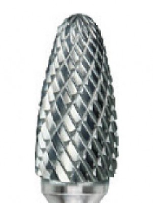 1/4 x 3/4 x 1/4 Carbide Bur, Double Cut, SF1 Type