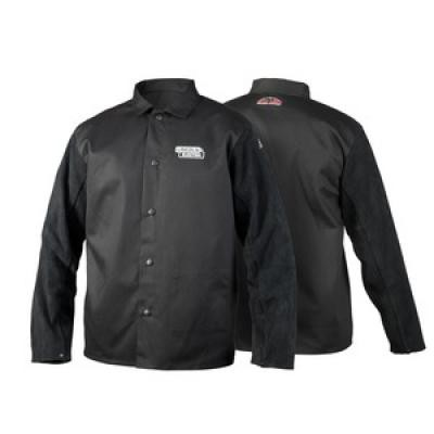 TRADITIONAL SPLIT LEATHER-SLEEVED JACKET - 3XL