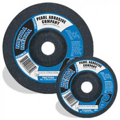 4 x 1/8 x 5/8 AO Flexible Grinding Wheels for Metal, Type 27 Shape