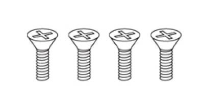 1/4-20 x 1/2 Flat Head Machine Screws (Metabo®) 4 sets