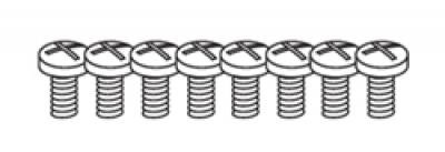 1/4-20 x 1/2 Pan Head Machine Screws (all) 8 sets