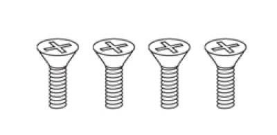 1/4-20 x 3/4 Flat Head Machine Screws (all) 4 sets