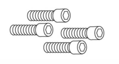 1/4-20 x 1 Socket Head Bolt (all) (set of 4)