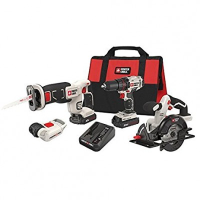 20V Max Cordless Lithium-Ion 4-Tool Combo Kit