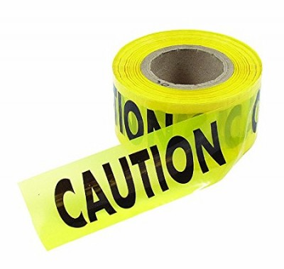 Econo Grade CAUTION Yellow Tape with Black Ink