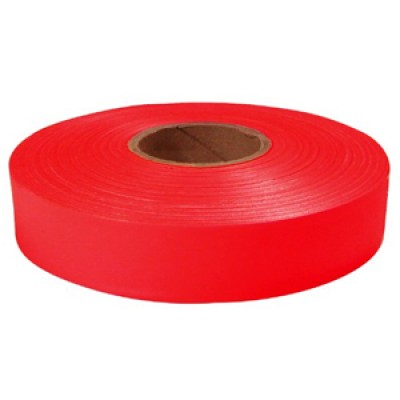 """600"""" x 1"""" Red Flagging Tape"""