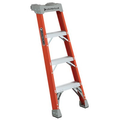 4 ft Fiberglass Shelf Extension Ladders