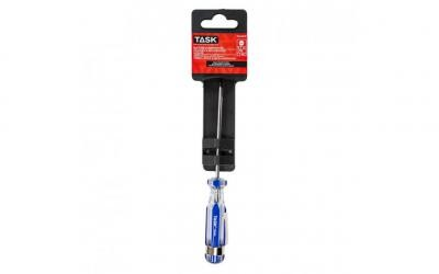 "1/8"" Slotted 3"" Elite Acetate Hard Grip Screwdriver with Pocket Clip - 1/pack"