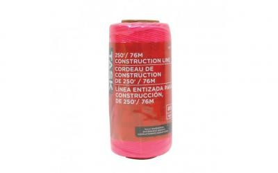 250' Pink Replacement Braided Nylon Construction Line - 1/pack