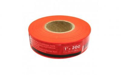 "1"" x 200' Orange PVC Flagging Tape"
