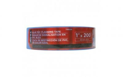 "1"" x 200' Blue PVC Flagging Tape"