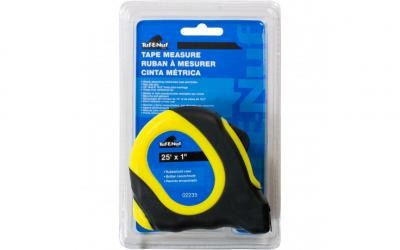 "25' x 1"" Rubberized Case Tape Measure - 1/pack"