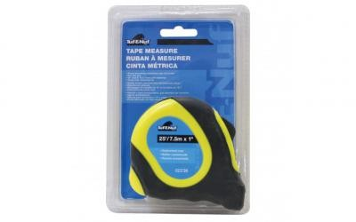 "25' (7.6m) x 1"" Rubberized Case Tape Measure - 1/pack"