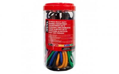 12pc Assorted Heavy Duty Bungee Cords - 6 Canisters per Display Box