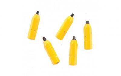 "#0 Robertson® 1"" Yellow Two-Piece Screwdriver Bit - Bulk"