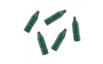 "#1 Robertson® 1"" Green Two-Piece Screwdriver Bit - Bulk"
