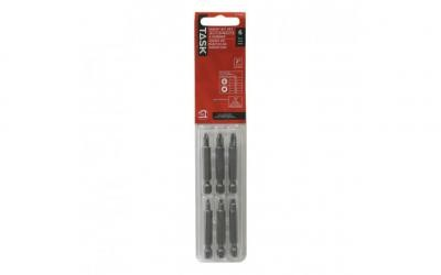 "6pc 2"" Square Recess / Phillips Screwdriver Bit Set - Blister Card"