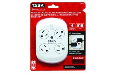 Revolve™ 4-Outlet Rotating Surge Protector - 1/pack