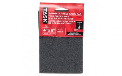 "4"" x 6"" Fine Grey Synthetic Steel Wool Pad - 2/pack"
