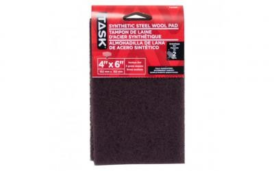 "4"" x 6"" Medium Maroon Synthetic Steel Wool Pad - 2/pack"