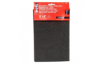 "6"" x 9"" Fine Grey Synthetic Steel Wool Pad - 2/pack"