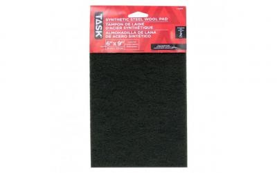"6"" x 9"" Course Green Synthetic Steel Wool Pad - 2/pack"