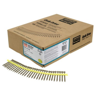 "2-1/2"" T25 Drive Collated Strip Screws + 2 Bits (Box of 1000)"