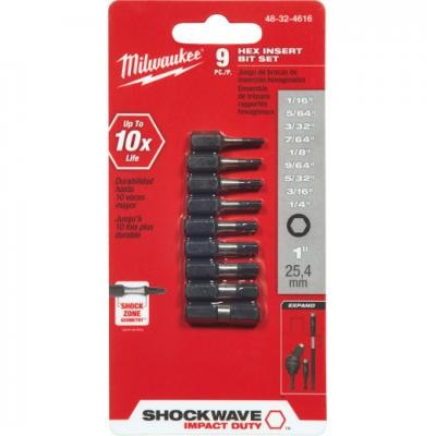 Shockwave™ 9PC Impact Hex Insert Bit Set
